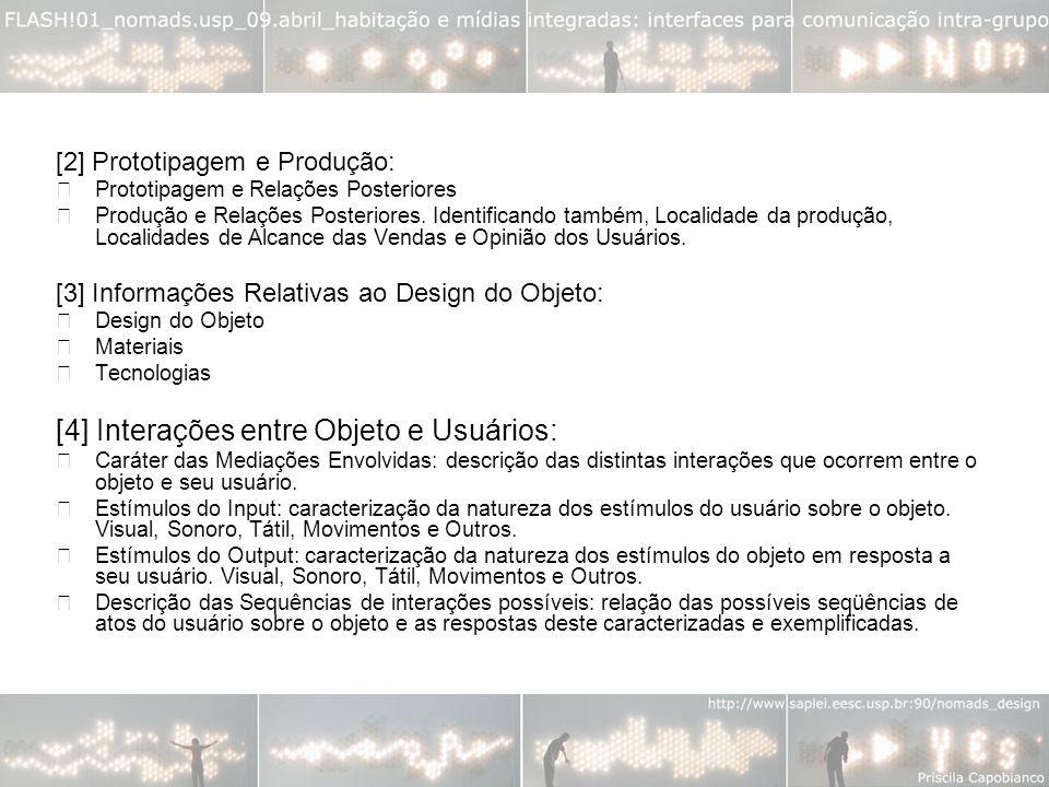 [4] Interações entre Objeto e Usuários: